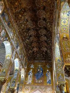 Capella Palatina -- Coffered ceiling