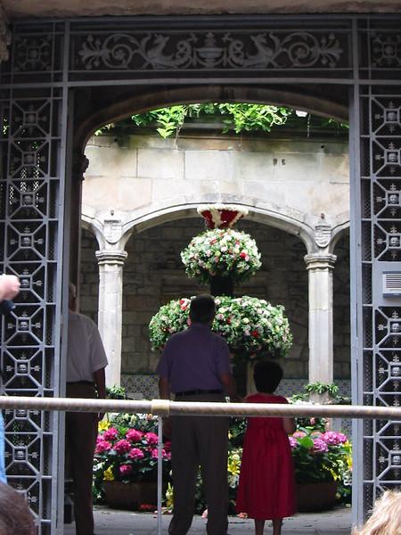 Corpus Christi in Barcelona (gardens open everywhere)