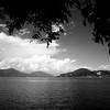 Útsýnið frá bænum og út á Lake Maggiore