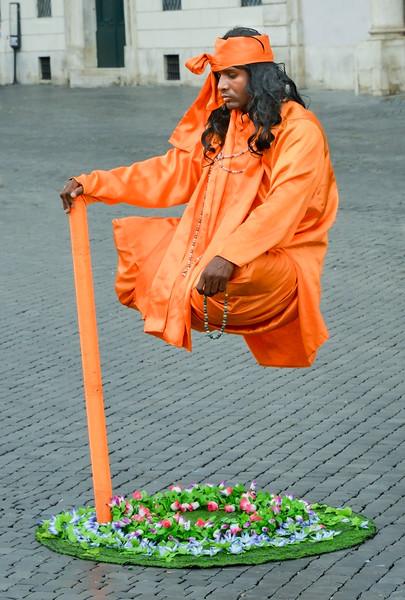 Street Entertainer in Rome