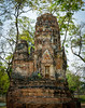 Maha That Temple ruins complex in Ayutthaya, the former capital of Thailand and Unesco World Heritage site.