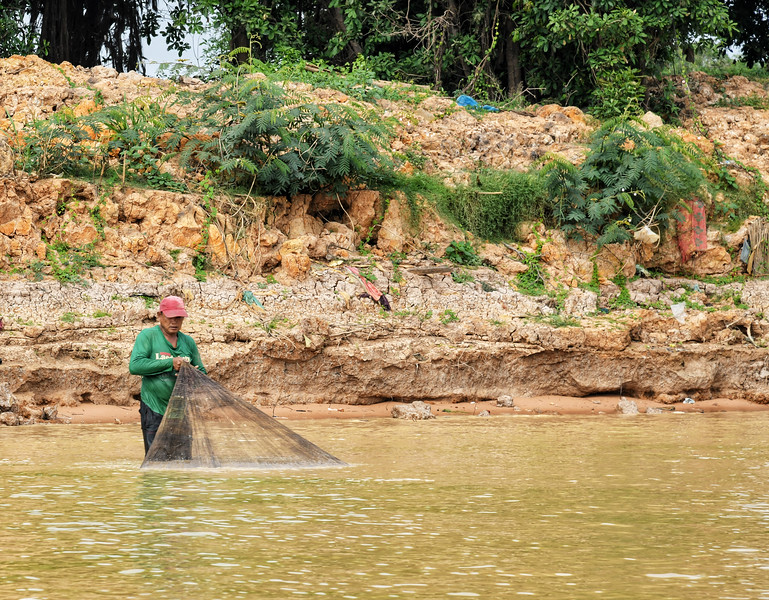 Fishing in the shallow water