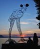 Wire Sculpture in Montreux on Lake Geneva
