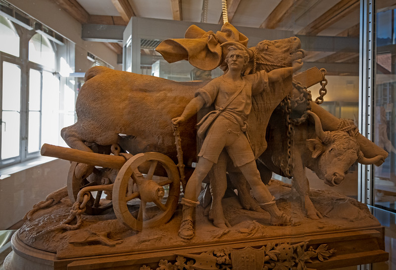 Swiss Woodcarving Museum in Brienz with carvings from the Huggler dynasty