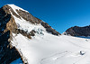 Another view from Jungfraujoch. Count the hikers on the mountain.