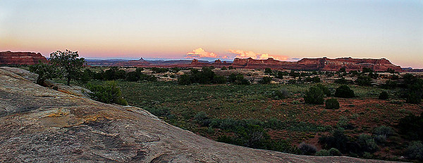 Sunset, The Needles Dist, Canyonlands Nat. Pk. UT