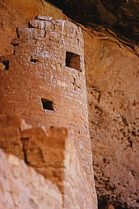 Anisazi cliff dwellings, Cliff Palace, Mesa Verde Nat. Pk. CO