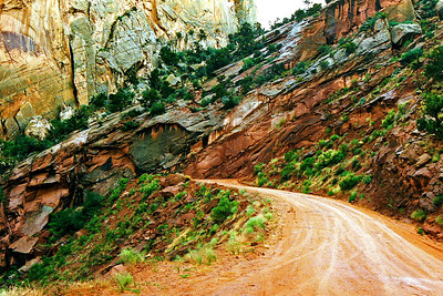 Switchbacks. Burr Trail, Capitol Reef National Park, Utah