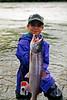 Catch of the day. Coho salmon on the Talkeetna River, Talkeetna, Alaska