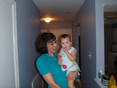 Jenny visits with Addy