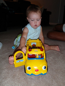 Favorite toy = the BUS!