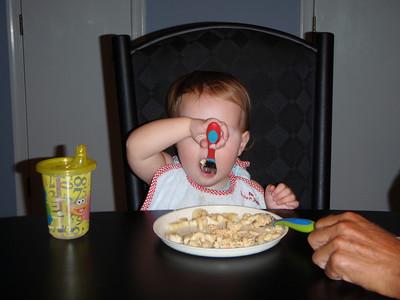 Using utensils!!!