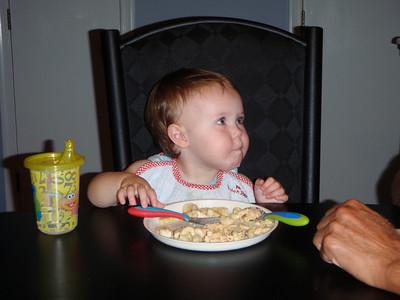 Dinner time - Bananas and Macaroni