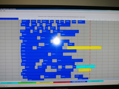 Surgical tracking board at the hospital