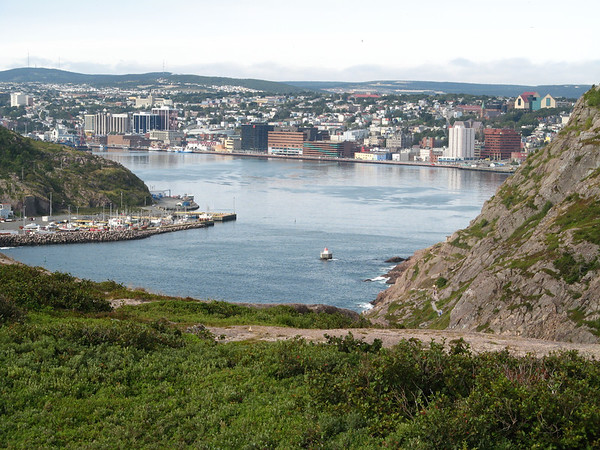 View of the Narrows and St-John from Signal Hill