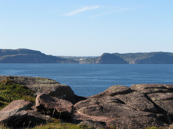 View of St-John's from Cape Spear