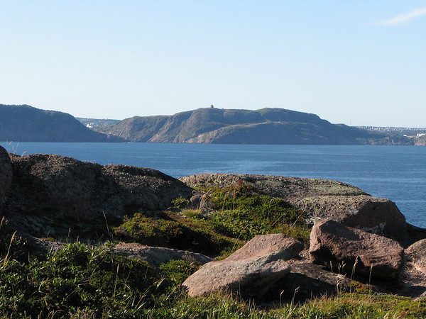 View of St-John's and Signal Hill from Cape Spear