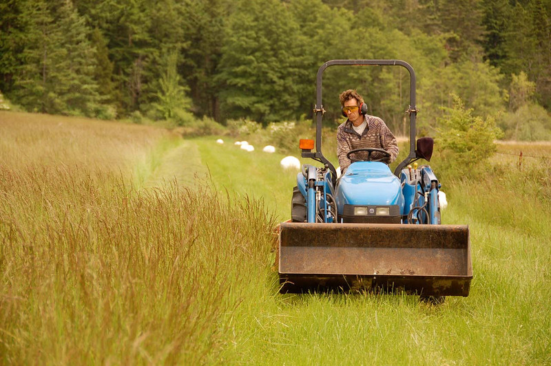 At Lacrover: Paul mowing