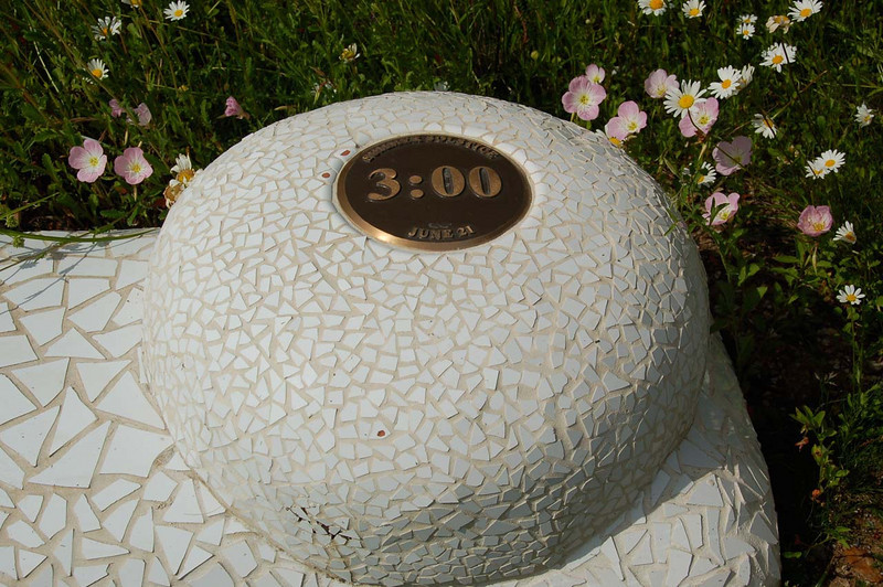 Sundial Bridge really is a sundial -- this is the 3:00 marker.