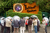 Off to Victoria for the weekend -- rainy day at Butchart Gardens