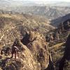 Marian atop the pinnacles 1974
