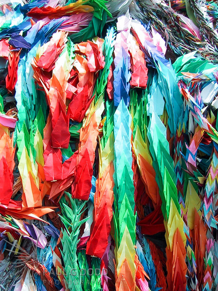 Paper cranes at Children's Peace Monument, Hiroshima Peace Park