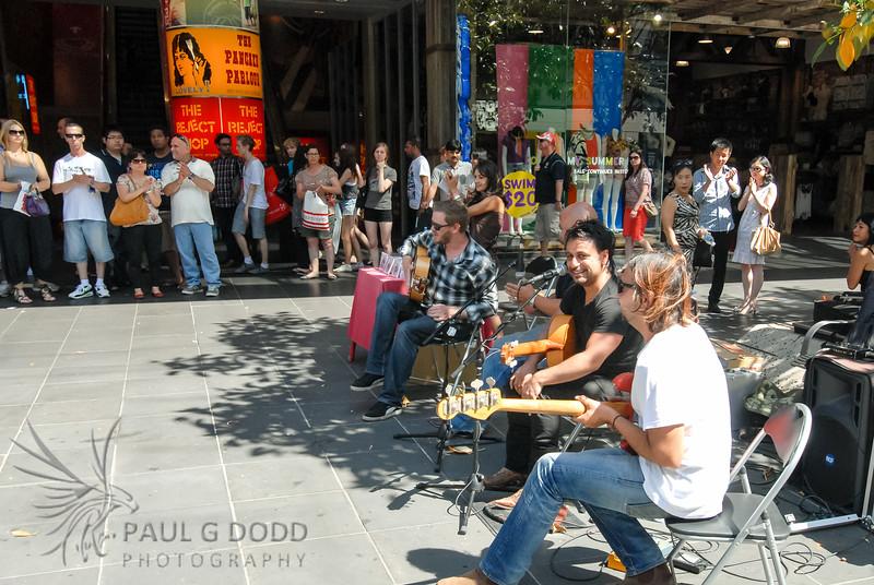 Buskers in Bourke Street Mall, Melbourne