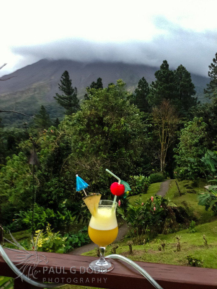 After a hard day's birding at Arenal