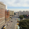 Looking south along Houston St from the seventh floor of the Texas Schoolbook Depository.