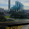 Looking south-west along Elm St (the route of the motorcade) from the sixth floor of the Texas Schoolbook Depository.
