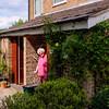 Barbara outside her home in Croydon