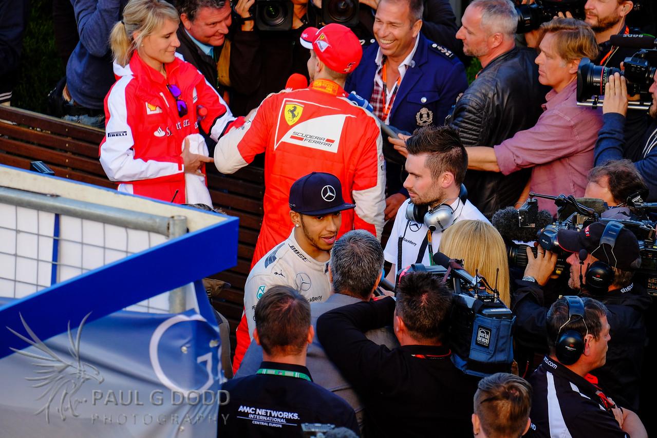 Lewis Hamilton: Mercedes AMG, Sebastian Vettel: Scuderia Ferrari