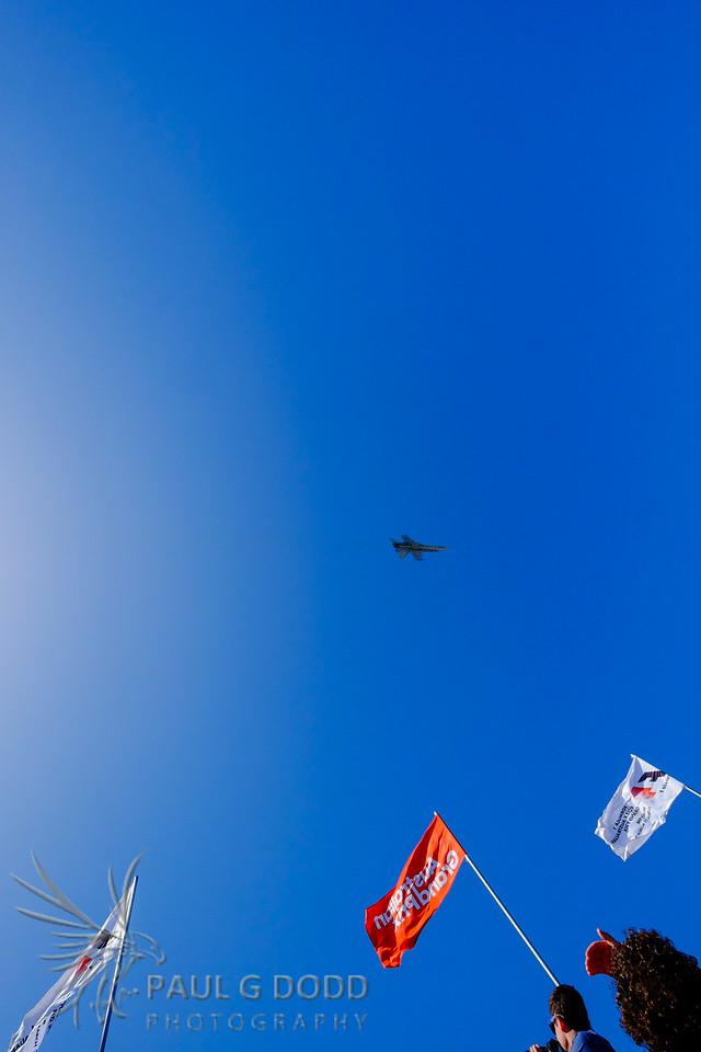RAAF F/A-18 Hornet fly past
