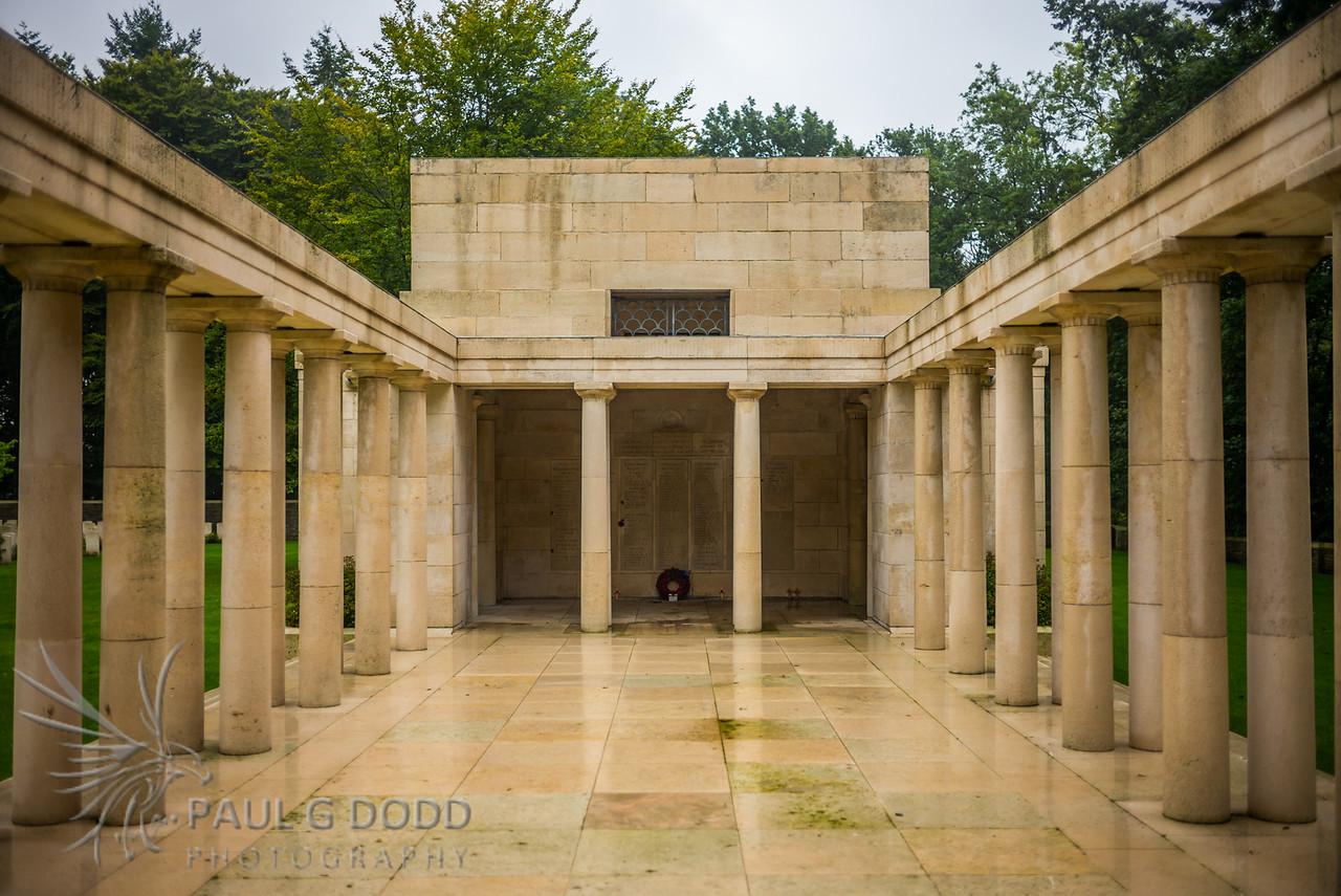 New Zealand Memorial at Buttes New British Cemetery, Passchendaele, Belgium