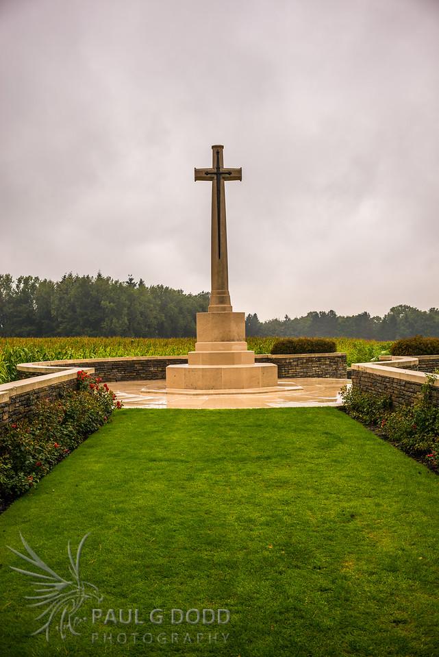Cross of Sacrifice at Polygon Wood Cemetery, Passchendaele, Belgium