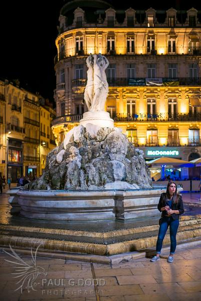 La fontaine des Trois Grâces, Montpellier