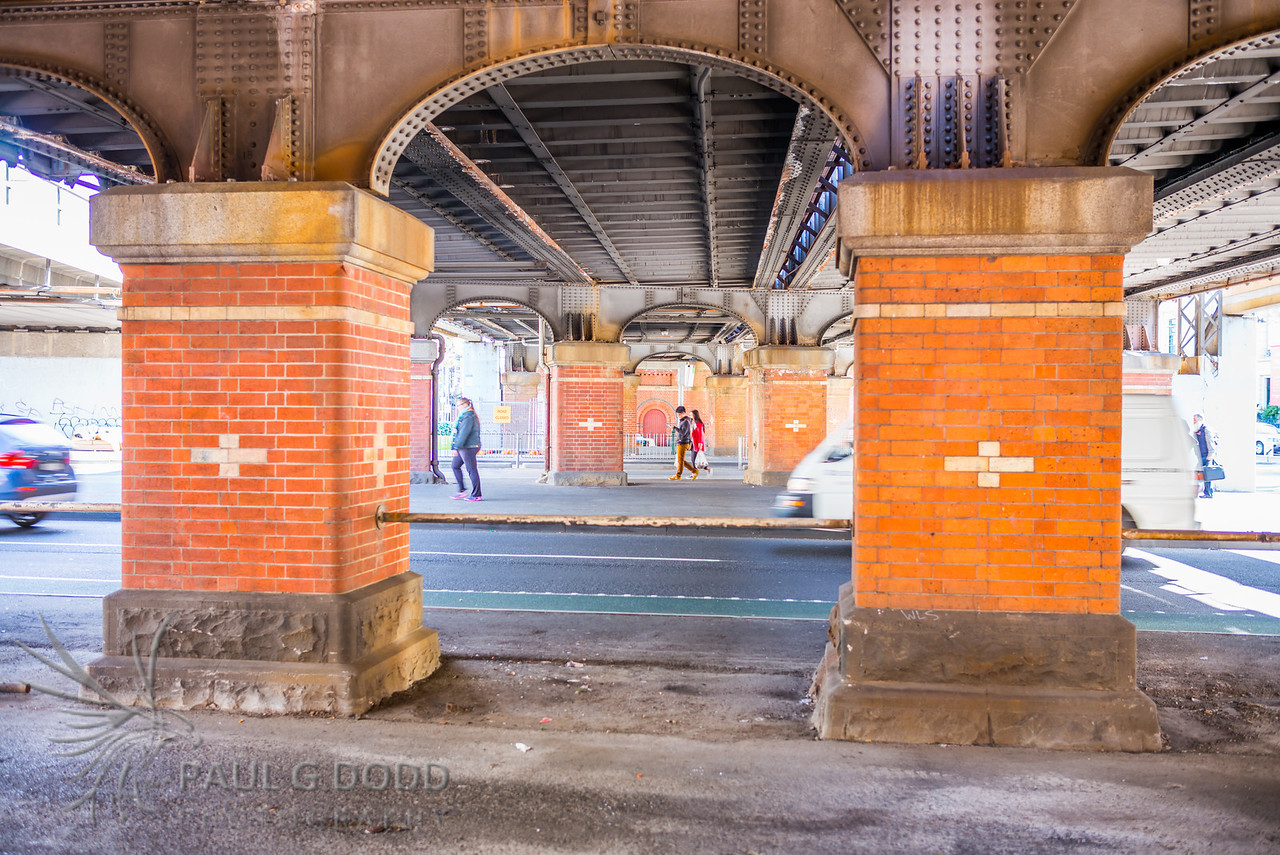 Beneath the Rail Viaduct, Flinders Street, Melbourne