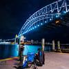 Fishing under the Sydney Harbour Bridge