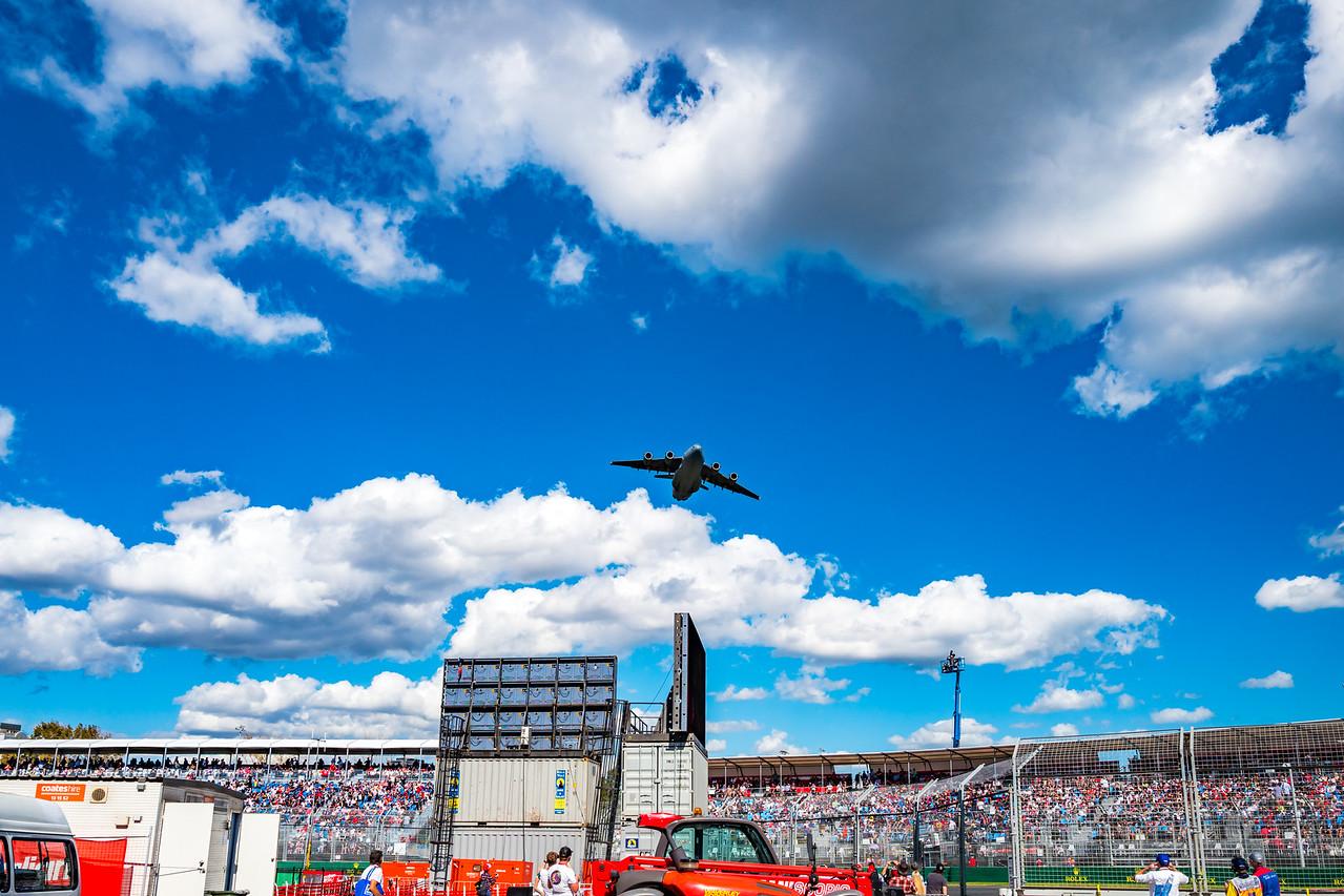 RAAF C-17A Globemaster III, Australian Formula 1 Grand Prix