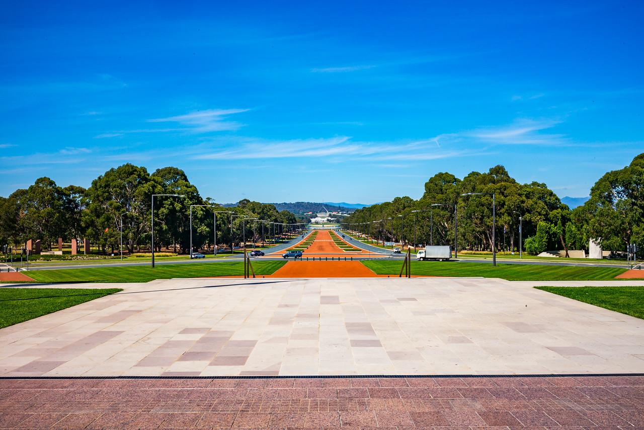 ANZAC Parade from the Australian War Memorial