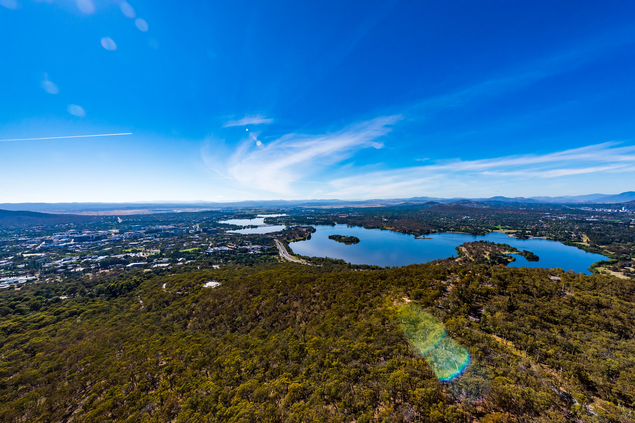 View from the Telstra Tower, Canberra