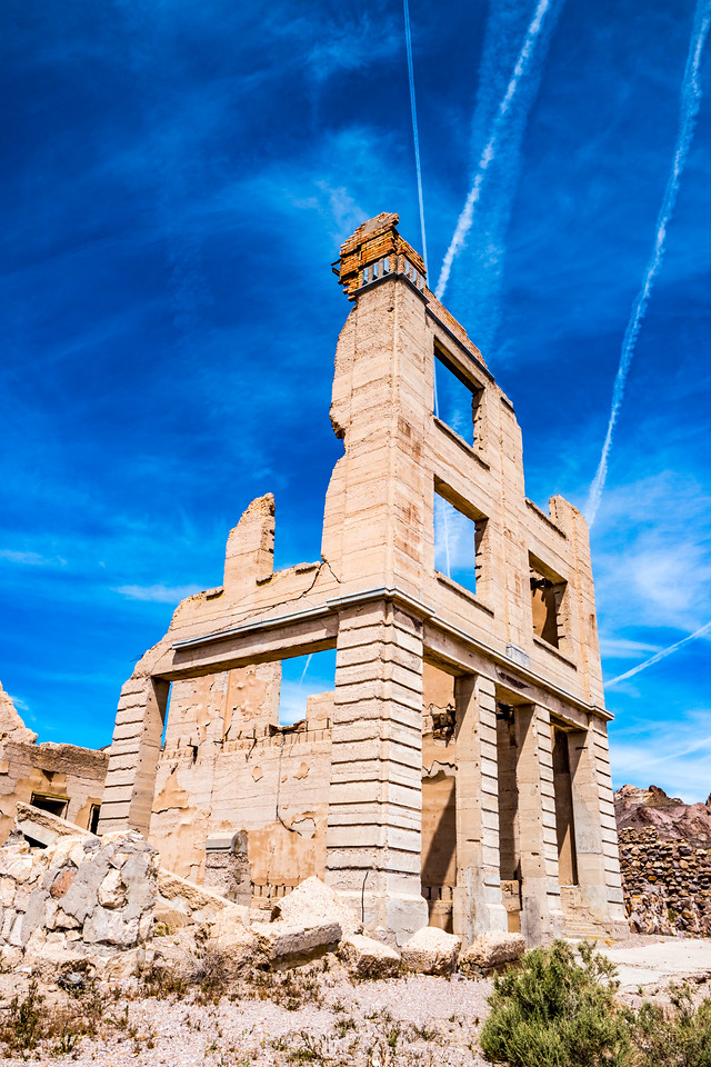 The Cook Bank building, Rhyolite ghost town, Death Valley