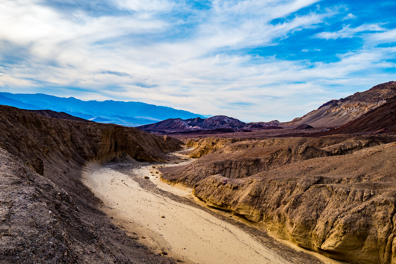 Dry creekbed, Artists Palette, Death Valley