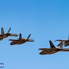 Formation of USAF F-22A Raptor, RAAF F/A 18 Hornets and RAAF F/22 Lightning II