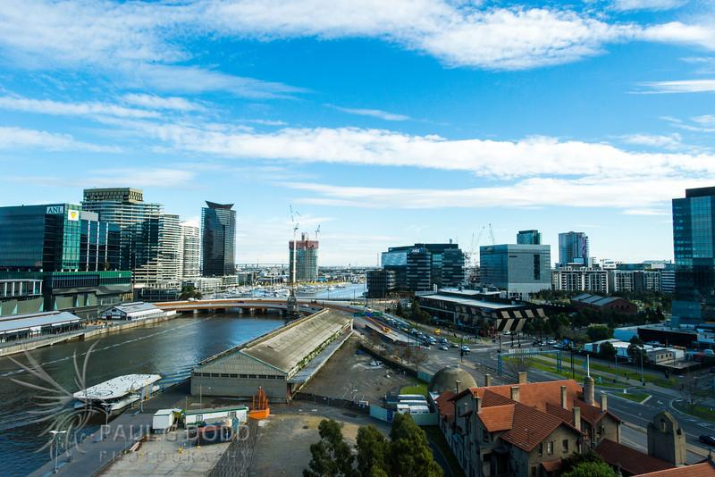 Charles Grimes Bridge from Flinders Wharf, Docklands