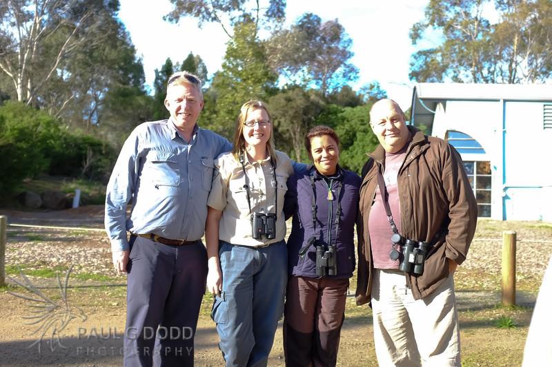 Paul Dodd, Ruth Woodrow, Rick & Elis Simpson (Wader Quest)