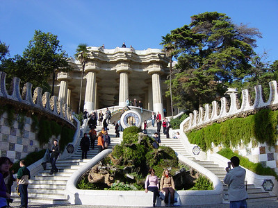The main entrance to Parc Guell.