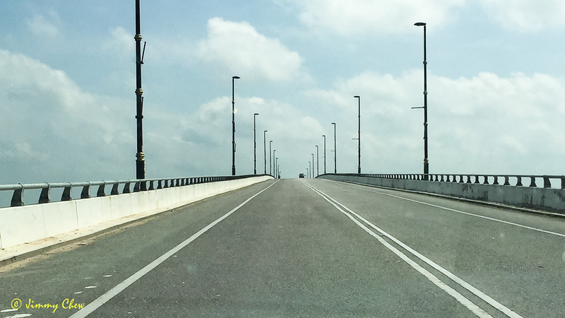 Up bridge over Sungai Manjung.
