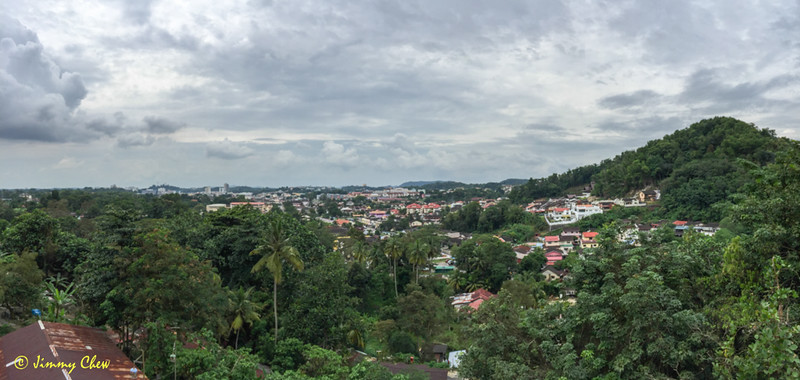 Pano shot of town from the temple.