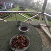 Morning nasi lemak meal at the gazebo...